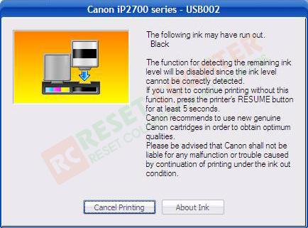 free driver reset canon pixma ip2770